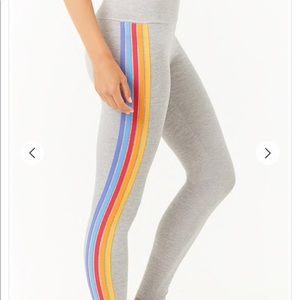 Rainbow Stripe Legging Pants size Small